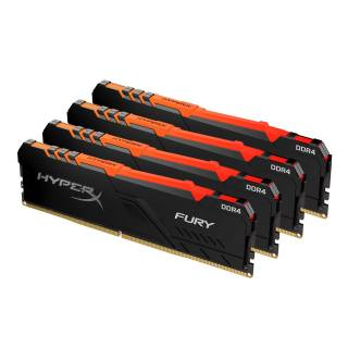 Kingston HyperX Fury RGB 64GB DDR4 4x16GB DDR4 3600MHz CL17