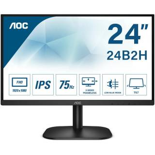 AOC 24B2XH Monitor 23.8 IPS 75Hz FullHD 7ms Frameless VGA/HDMI