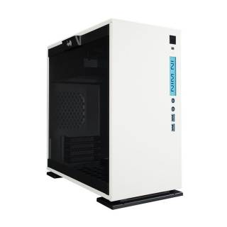 In Win 301 WHITE Mini Tower Paratia laterale vetro temperato No-Power mATX/miniITX Bianco