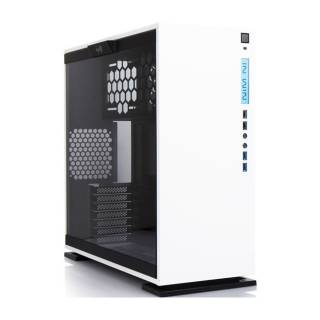 In Win 303 WHITE Middle Tower Paratia laterale vetro temperato - Bianco No-Power mATX/miniITX/ATX