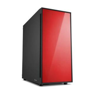 Sharkoon AM5 Silent Red Middle Tower No Power MinITX/mATX/ATX Nero/Rosso