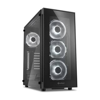 Sharkoon TG5 Middle Tower Vetro Temperato No Power LED White minITX/mATX/ATX Nero