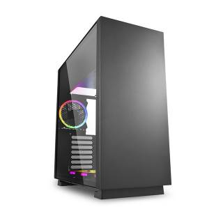 Sharkoon Pure Steel RGB Middle Tower Vetro Temperato No Power minITX/mATX/ATX/E-ATX/CEB/EEB Nero