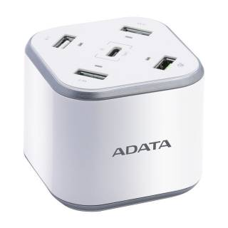Adata Wall Charger 3*USB 2.4A 1*USB QC 3A 1*Type-C 3A 48W