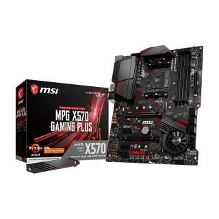 MSI MPG X570 Gaming Plus AMD X570 4*DDR4 2*M.2 6*SataIII skAM4 HDMI ATX