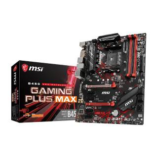 MSI B450 Gaming Plus Max AMD B450 4*DDR4 M.2 6*SataIII USB3.2 skAM4 DVI/HDMI ATX