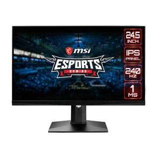 MSI Optix MAG251RX Monitor 24,5 IPS 240Hz FullHD 1ms G-Sync USB2.0 HDMI/DP/USB-C