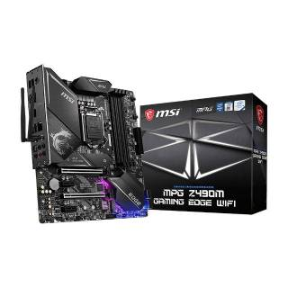 MSI MPG Z490M Gaming Edge Intel Z490 4*DDR4 2*M.2 4*SataIII sk1200 Wi-Fi/BT HDMI/DP mATX