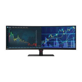 Lenovo ThinkVision P44w-10 Monitor 43.4 Curvo VA 144Hz 3840x1200 Multimediale 4ms USB3.1 C HDMI/DP Nero