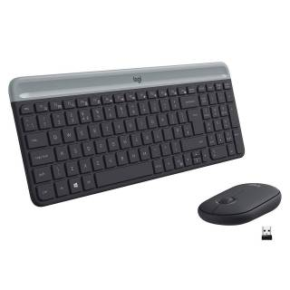 Logitech MK470 Slim Kit Tastiera Mouse  Wireless Layout IT