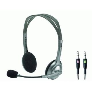 Logitech Stereo Headset H110 Cuffie/Microfono 3.5mm Silver