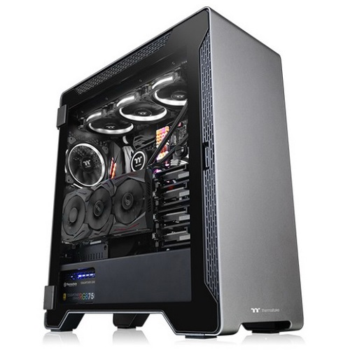 Thermaltake Case Middle Tower A500 ALLUMINIO TG Vetro Temperato