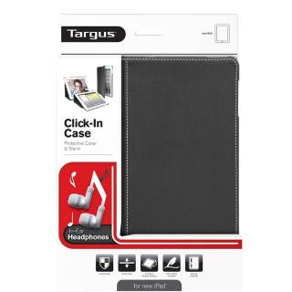 Targus Click-In Cover + Cuffie In-Ear per New iPad