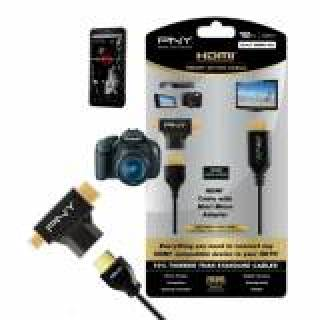 PNY Kit HDMI 1.4 Attivo A-to-C/D High-Speed 3.6m