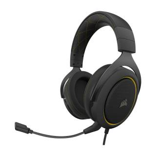 Corsair HS60 Pro Surround Cuffie con Microfono PC/PS4/XboxOne/Mobile Nero/Giallo