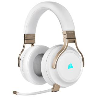 Corsair Virtuoso iCUE Cuffie con Microfono Wireless Pearl