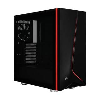 Corsair Carbide SPEC-06 Middle Tower Vetro Temperato No Power minITX/mATX/ATX Nero/Rosso