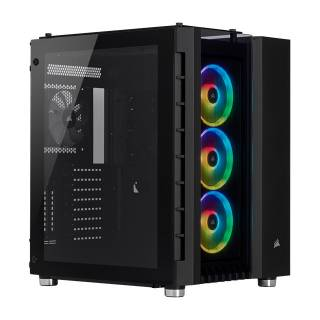 Corsair Crystal 680X RGB iCUE Middle Tower Vetro temperato No-Power Mini-ITX/mATX/ATX/E-ATX Nero