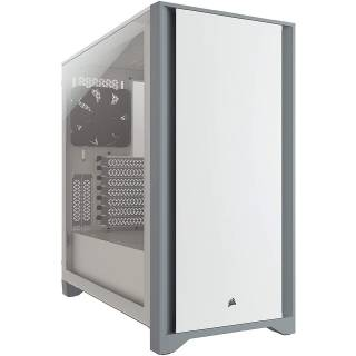 Corsair 4000D Middle Tower Vetro Temperato No-Power minITX/mATX/ATX Bianco