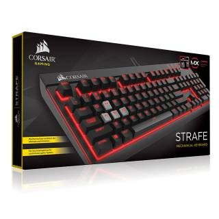 Corsair STRAFE Tastiera Meccanica Backlit Red LED Cherry MX Brown USB Layout ITA