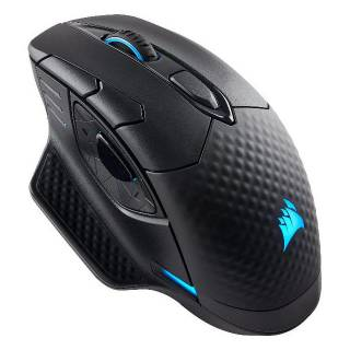Corsair DARK CORE RGB, Mano destra, Ottico, Bluetooth+USB Type-A, 16000 DPI, Nero