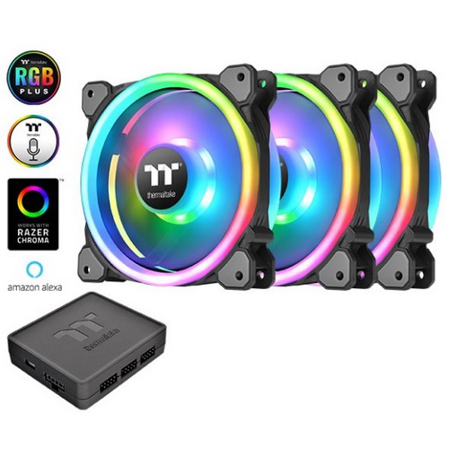 Thermaltake Ventola RIING TRIO12 LED RGB RADIATOR FAN TT PREMIUM 3-PACK