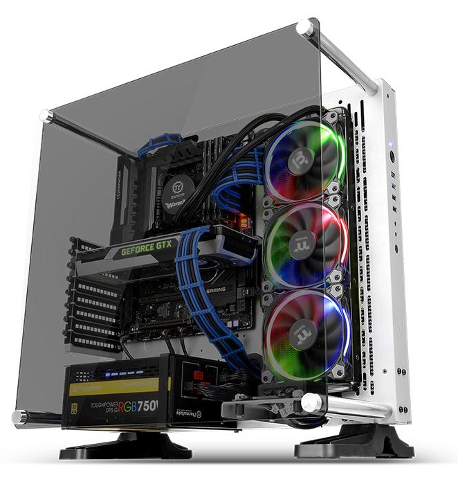 Thermaltake Case Middle Tower CORE P3 Vetro Temperato SNOW EDITION