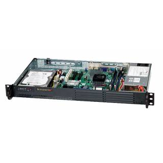 Supermicro 502L-200B SuperChassis Mini 1U 1*3,5'' 200w supporto Intel Atom Nero