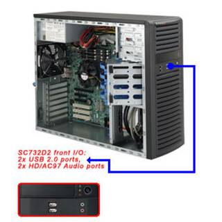 Supermicro CSE-732D2-500B Middle Tower Nero 500W m-ATX/ATX/e-ATX