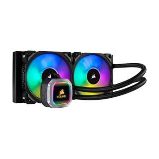 Corsair H100i RGB Platinum CPU Liquid Cooler Intel 1151/1200/2066 AMD AM4/TR4 Nero