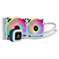 Corsair H100i RGB Platinum SE CPU Liquid Cooler Intel 1151/1200/2066 AMD AM4/TR4 Bianco