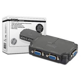 Digitus DS421201 KVM splitter 4 VGA