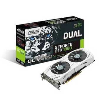 Asus GeForce GTX 1060 DUAL - GTX1060 - 3G 3GB GDDR5 DVI / 2*HDMI / 2*DP PCi Ex 3.0 16x