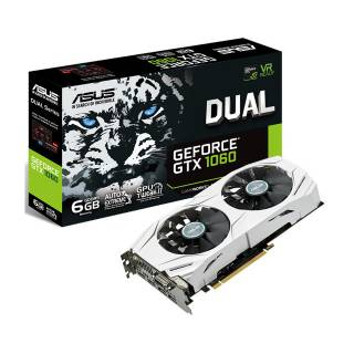 Asus GeForce GTX 1060 DUAL - GTX1060 - 6G 6GB GDDR5 DVI / 2*HDMI / 2*DP PCi Ex 3.0 16x