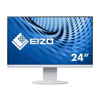 Eizo FlexScan EV2460 Monitor 23.8 60Hz IPS FullHD 5ms Multimediale Pivot USB3.1 VGA/DVI/HDMI/DP Bianco