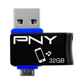 PNY On - The - Go Duo - Link Flash Drive 32GB USB 2.0