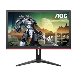 AOC G2868PQU Monitor 28 60Hz TN 4K UHD 1ms FreeSync Multimediale USB VGA/HDMI/DP Nero
