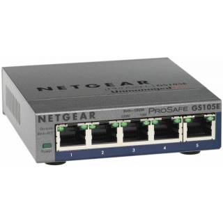 Netgear GS105E-200PES Switch ProSafe Gigabit Ethernet 10/100/1000Mbps 5 porte