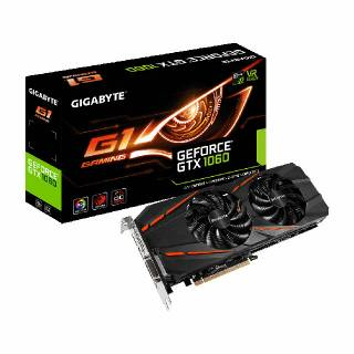 Gigabyte GeForce GTX 1060 GV - N1060G1 - 3GD Gaming 3GB GDDR5 DVI / HDMI / 3*DP PCi Ex 3.0 16x