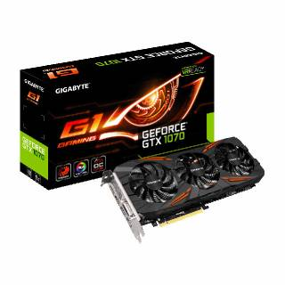 Gigabyte GeForce GTX 1070 GV - N1070G1 Gaming 8GB GDDR5 DVI / HDMI / 3*DP PCi Ex 3.0 16x