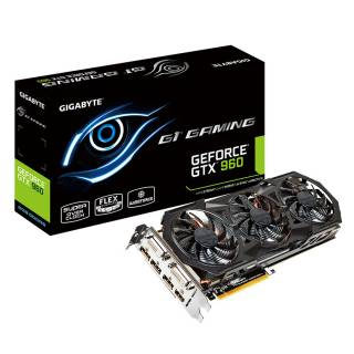 Gigabyte GeForce GTX 960 GV - N960G1 - GAMING - 2GD GB GDDR5 2*DVI / HDMI / 3*DP PCi Ex 3.0 16x