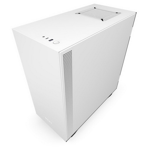 NZXT GAMING Case H510 COMPATTO Middle Tower. NERO/BIANCO V.TEMPERATO 2*120 Aer F