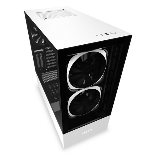 NZXT GAMING Case H510 ELITE COMP.Middle Tower.NERO/BIANCO -2*140 Aer RGB F-1*LED S
