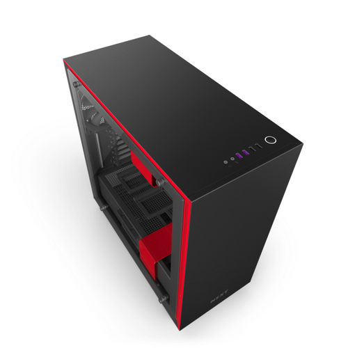 NZXT GAMING Case H700i Middle TowerOWER  NERO/ROSSO CA-H700W-BR