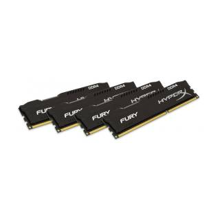 Kingston HyperX Fury Black Kit 64GB 4*16GB DDR4 2400MHz CL15 Nero