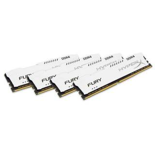 Kinston HyperX Fury Kit 32GB 4x8GB DDR4 2400MHz CL15 Bianco
