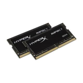 HyperX Impact 32GB DDR4 2400MHz Kit, 32 GB, 2 x 16 GB, DDR4, 2400 MHz, 260-pin SO-DIMM, Nero