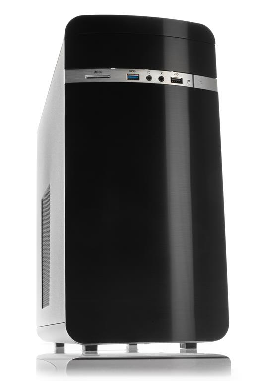 Case OTTO Advanced Dark Mini Tower mATX, USB3, NO PSU, Card Reader - New Concept Design