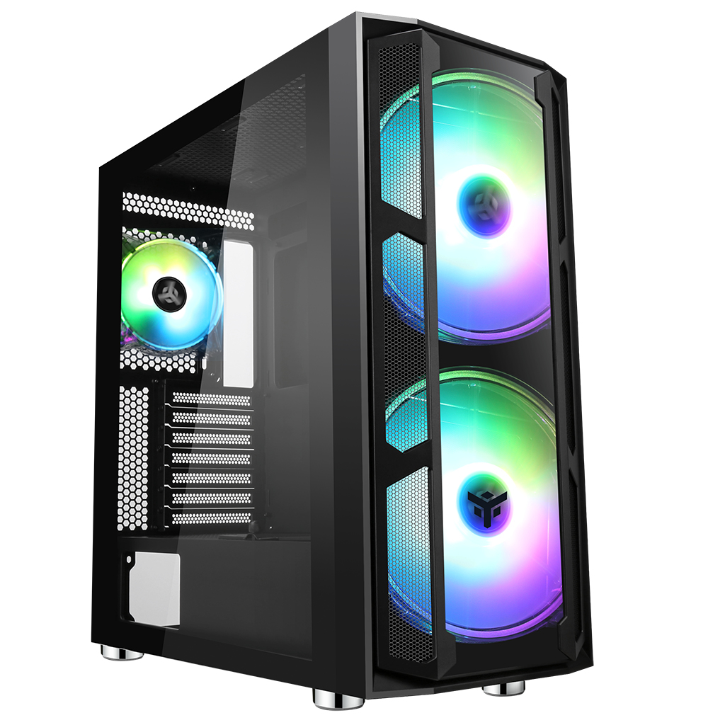 Case MAJES 20 EVO - Gaming Full Tower, 2x20cm ARGB fan, USB3, Front & Side Panel Temp Glass