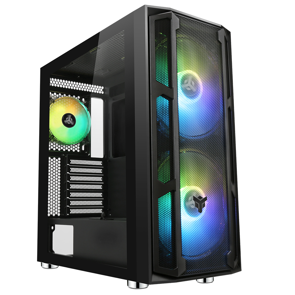 Case MAJES 20 Mesh EVO - Gaming Full Tower, 2x20cm ARGB fan, USB3, Front Mesh, Side Glass